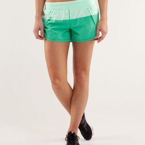 Lululemon Run:Breeze Short -Fresh Teal/ Very Green